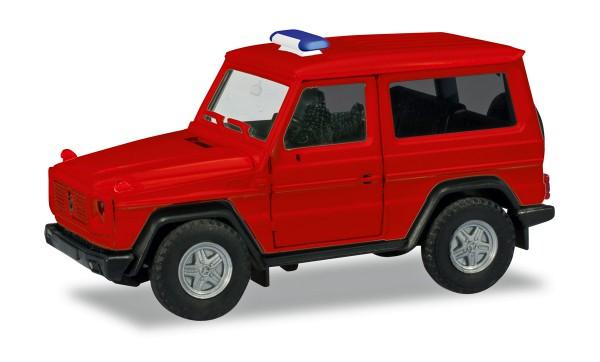Herpa 013086 - Herpa MiniKit: Mercedes-Benz G-Modell, rot (unbedruckt / Blaulichtbalken wird beigele