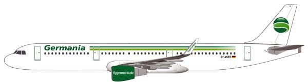 Herpa Wings 611879 - Germania Airbus A321 - D-ASTE - 1:200 - Snap-Fit