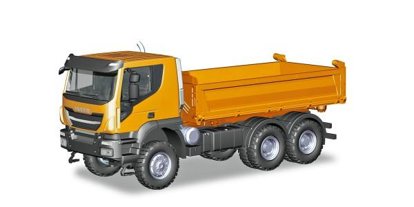 Herpa 309998 - Iveco Trakker 6x6 Baukipper-LKW, orange - 1:87