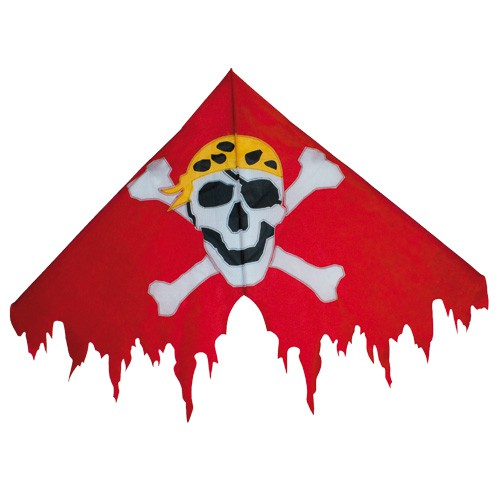 Colours in Motion Kinderdrachen Delta Jolly Roger Red - 135 x 85 cm - R2F