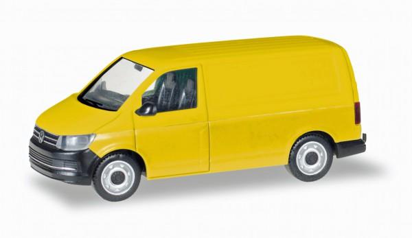Herpa 013277 - Herpa MiniKit: VW T6 Kasten, gelb - 1:87