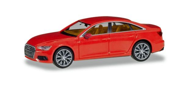 Herpa 430678 - Audi A6 ® Limousine, feuerrot mit zweifarbigen Felgen - 1:87