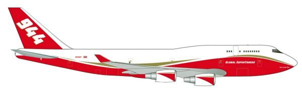 """Herpa Wings 531955 - Global Supertanker Services Boeing 747-400 Supertanker - N744ST """"Spirit of John"""