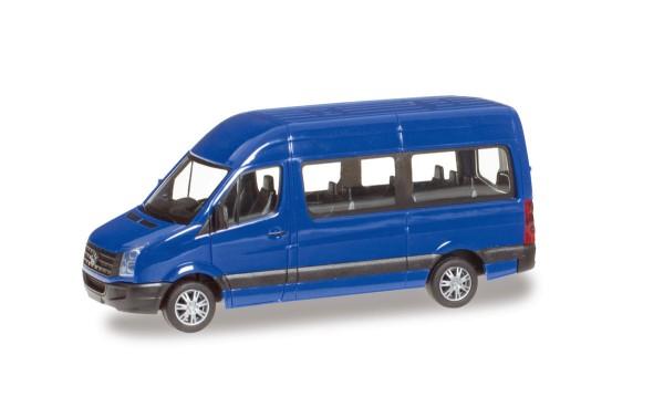 herpa 049948-002 - VW Crafter Bus Hochdach, ultramarinblau - 1:87