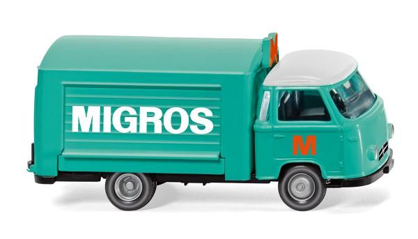 """Wiking 027901 - Verkaufswagen (Borgward) """"Migros"""" - 1:87"""