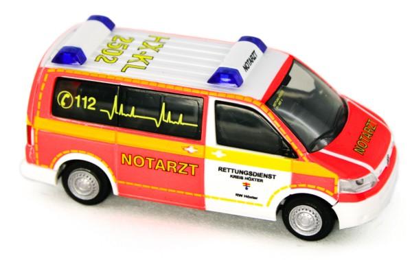 Rietze 53437 - Volkswagen T5 `10 Notarzt Rettungsdienst Höxter - 1:87
