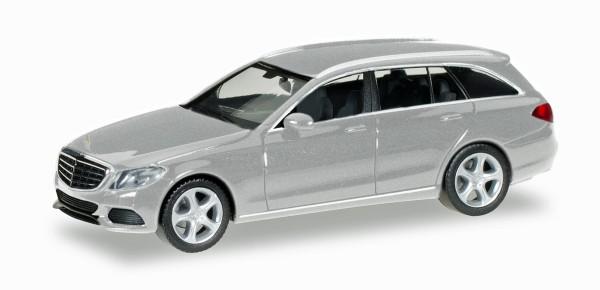 Herpa 038393-004 - Mercedes-Benz C-Klasse T-Modell Elegance, silber metallic - 1:87