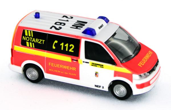 Rietze 53445 - Volkswagen T5 ´10 Notarzt FW Müllheim / Ruhr - 1:87