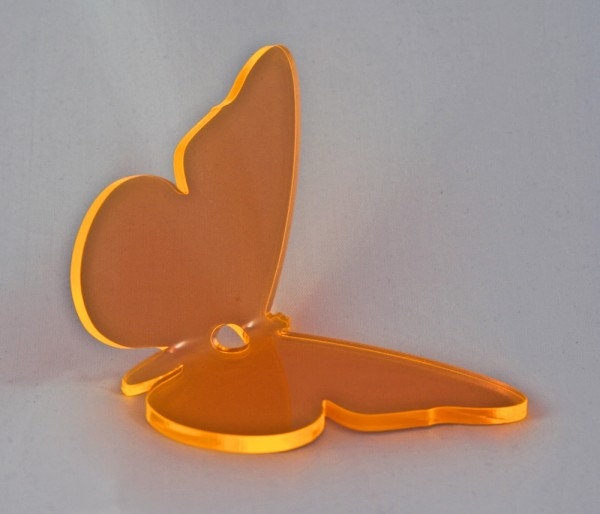 Lichtzauber Sonnenfänger - Schmetterling mittel, 16 cm, orange, gebogen (Elliot 1019451)