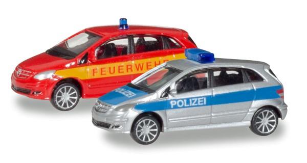 """Herpa 066549 - Mercedes-Benz B-Klasse """"Polizei/Feuerwehr"""" - 1:160"""