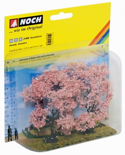 NOCH 21996 - Profi Mandelbäume, 2 Stück, 8 und 9 cm hoch - H0 / TT