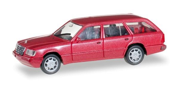 Herpa 038553 - Mercedes-Benz E 320 T (W124), almadinrot metallic - 1:87