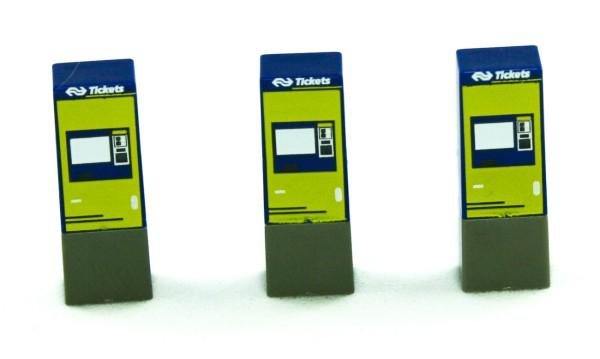 Rietze 70295 - Fahrkartenautomat NS Groep N.V (NL) 3 Stück - 1:87