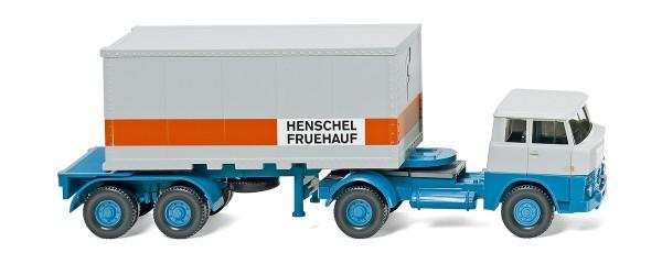 """Wiking 052601 - Containersattelzug (Henschel) """"HENSCHEL FRUEHAUF"""" - 1:87"""