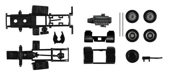 Herpa 084925 - Fahrgestell Zugmaschine MAN F8, 2-achs Inhalt: 2 Stück - 1:87