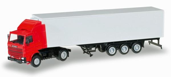 Herpa 012850 - Herpa MiniKit: Scania 142 mit Kühlkoffer-Auflieger - 1:87