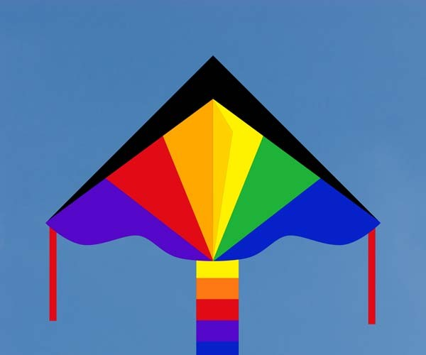 Simple Flyer Rainbow 120 cm, Kinderdrachen von Invento-HQ - R2F