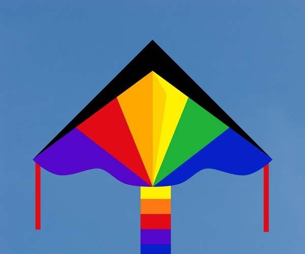 Simple Flyer Rainbow 120 cm, Kinderdrachen von Invento-HQ - R2F