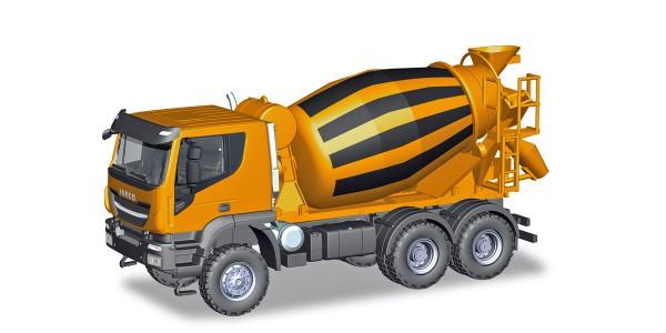 Herpa 310000 - Iveco Trakker 6x6 Betonmischer-LKW, orange - 1:87