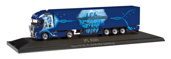 "Herpa 121798 - Volvo FH Gl. XL Kühlkoffer-Sattelzug ""IFL Köln"" - 1:87"
