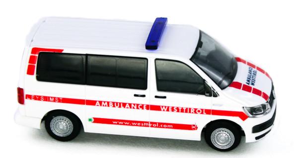 Rietze 53711 - Volkswagen T6 Ambulance Westtirol (AT) - 1:87