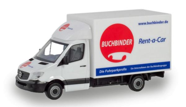 """Herpa 094702 - Mercedes-Benz Sprinter Koffer-LKW """"Buchbinder Autovermietung"""" - 1:87"""